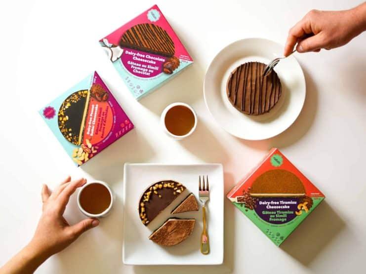 加拿大纯素食品公司Nabati Foods Global Inc.生产的纯素提拉米苏芝士蛋糕
