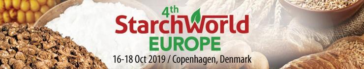 4th Starchworld Europe, 16-18 October 2019 in Copenhagen, Denmark