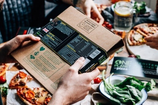 One Planet Pizza packaging