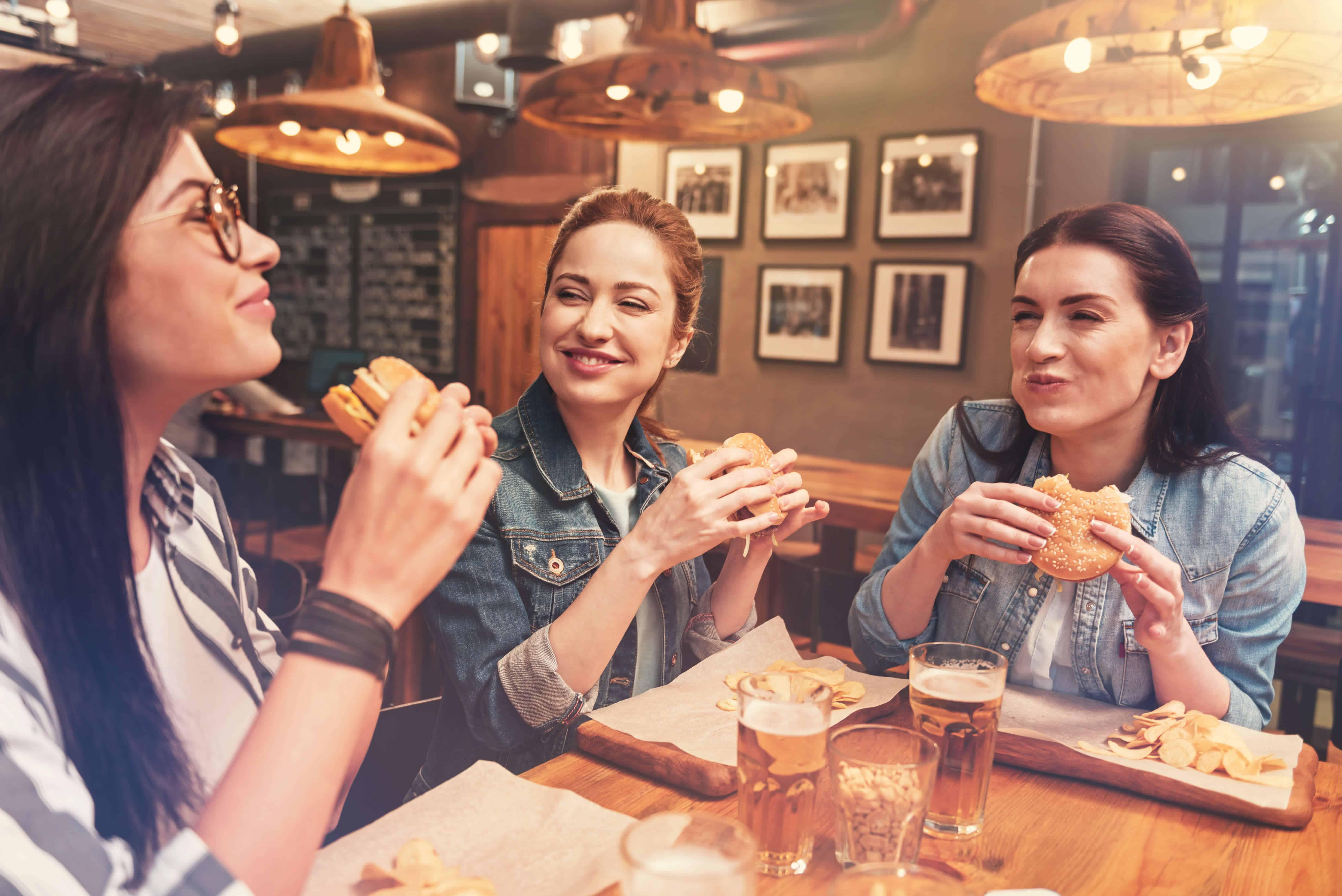Milennials with food