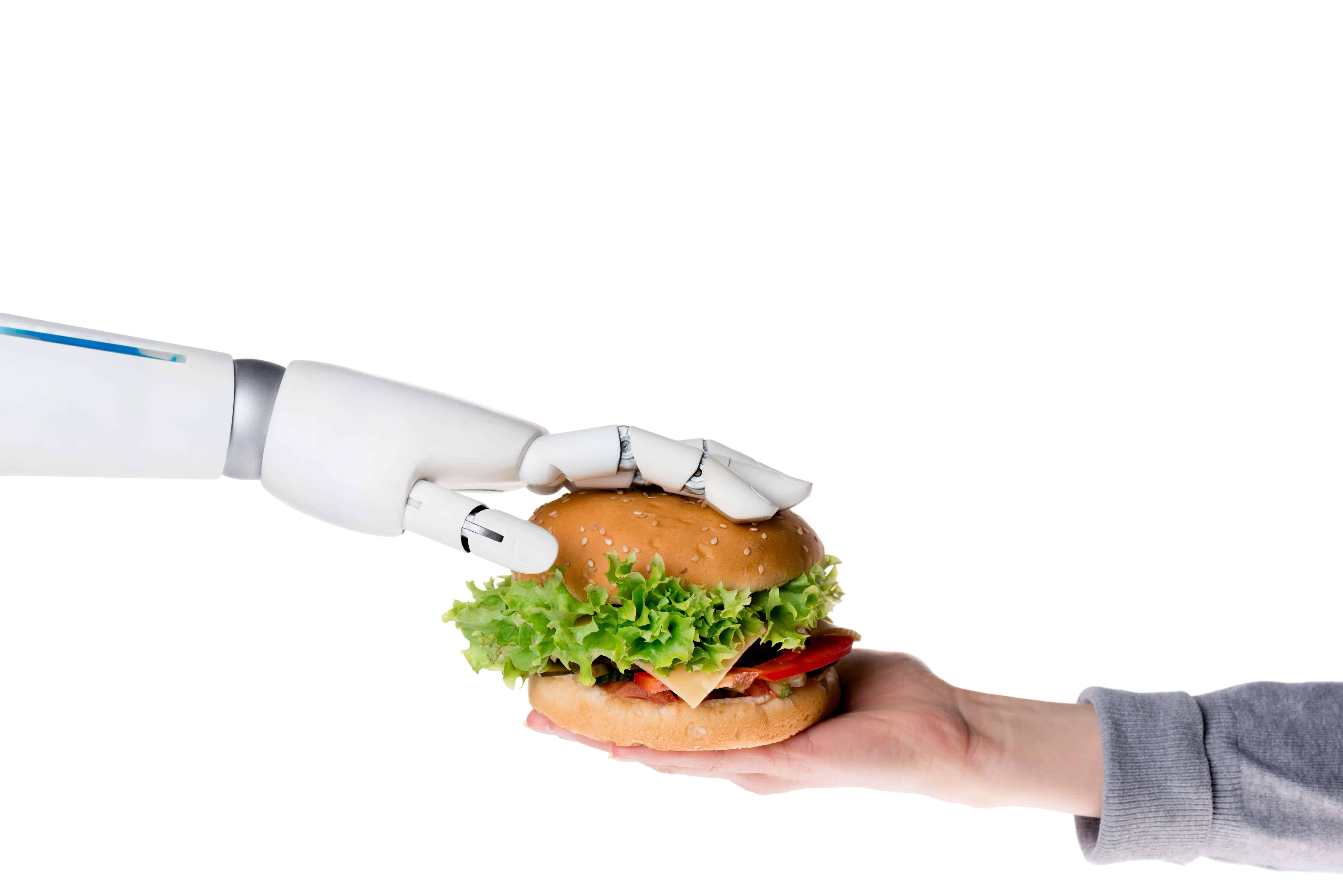 robot and burger