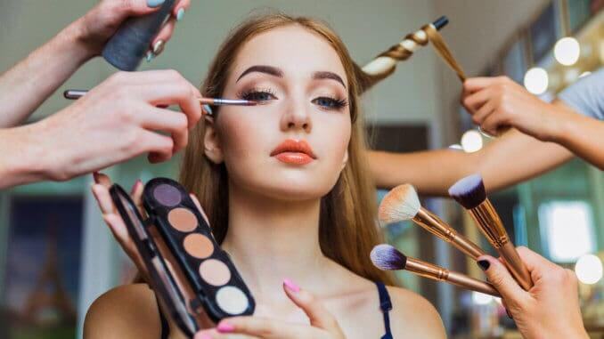 cosmetics make-up touch-up