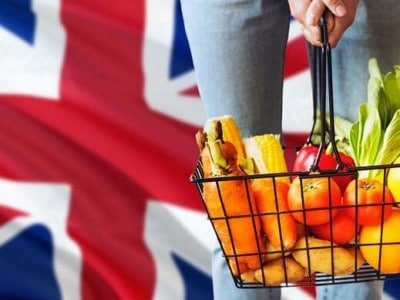 UK Britain flag shopping