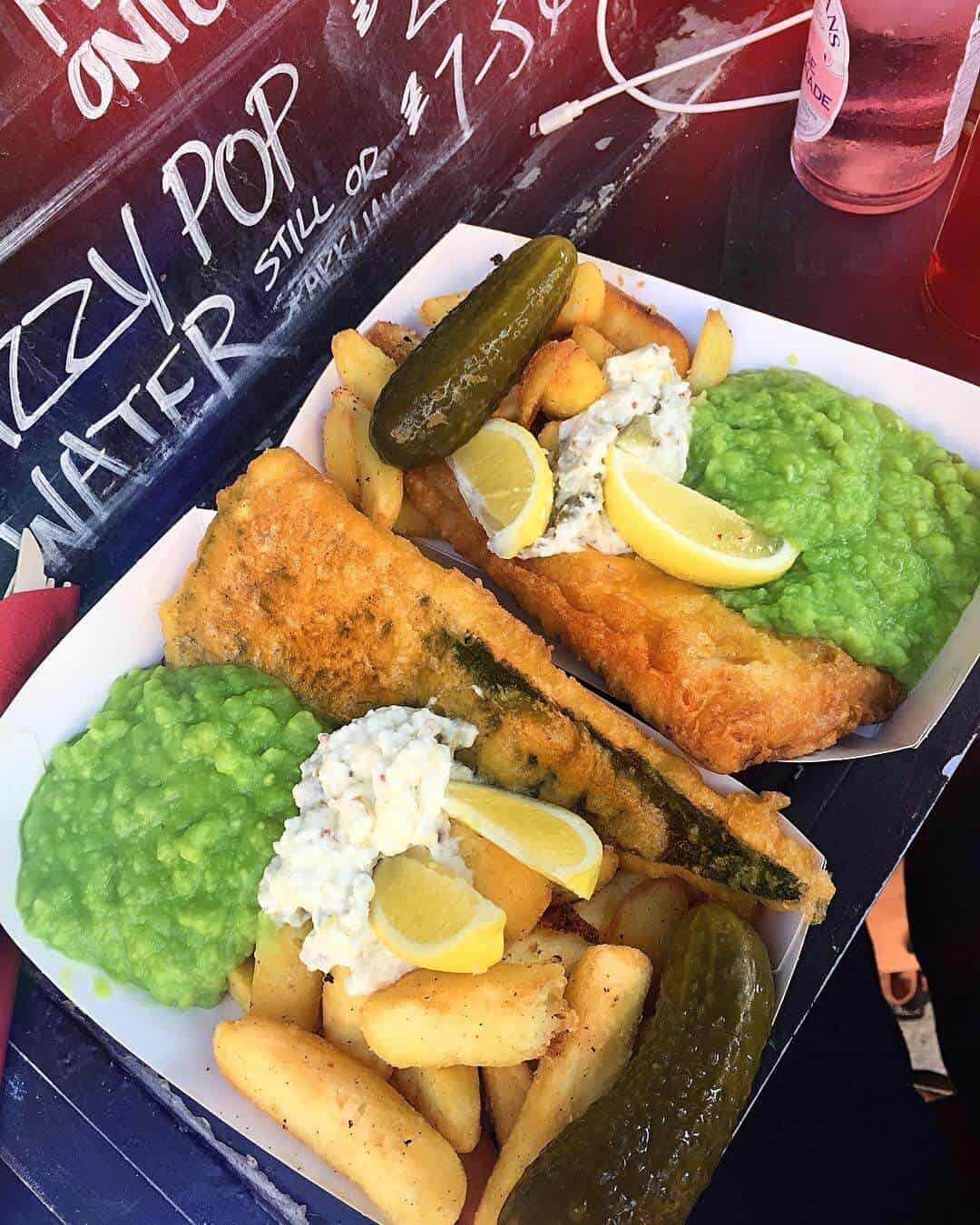 Battered-vegan fish and chips