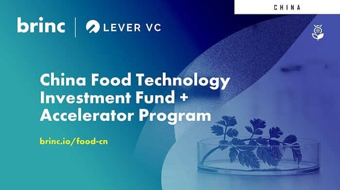 Lever VC and Brinc Launch Investment Fund and Accelerator Program for Plant-Based in China