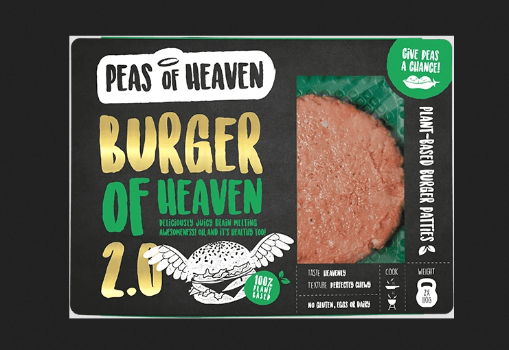 Peas of Heaven burger