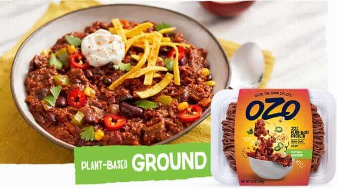 OZO Foods plant-based ground chili