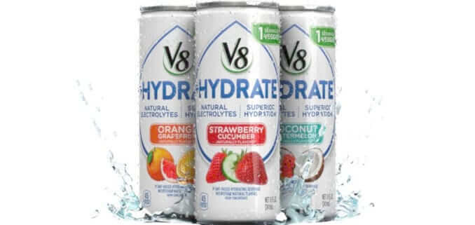 Campbell Soup Launches New V8+Hydrate Plant-Based Drink