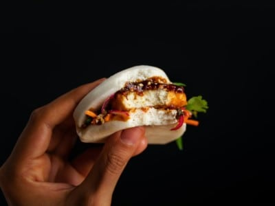Eat Just chicken sandwich closeup