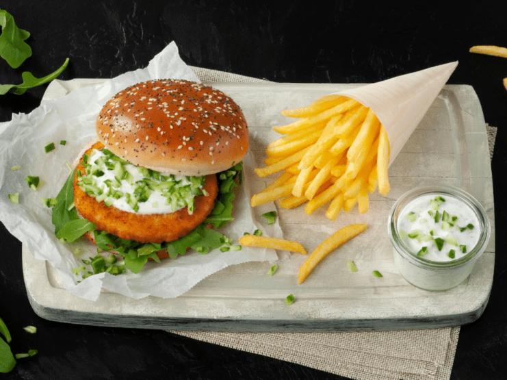 Schouten fishless burger