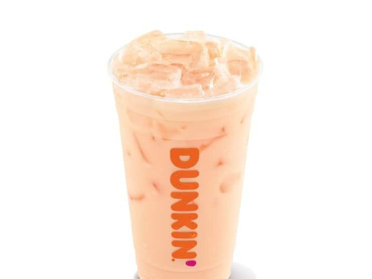 Golden Peach Coconut Milk Refresher Dunkin