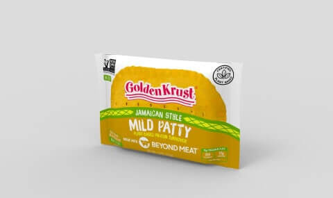 Golden Krust Beyond Meat Patties Packaged