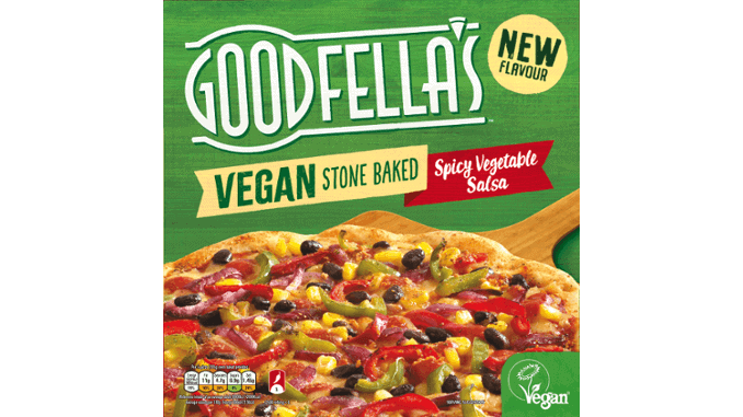 Goodfellas Stonebaked Spicy Vegetable Salsa pizza VBites