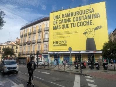Heura billboard in Madrid Photo Credit Heura Foods