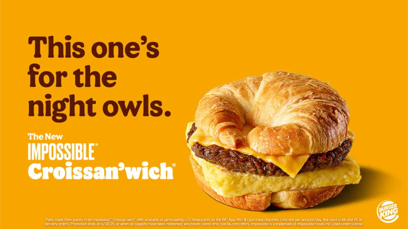 Impossible Croissan'wich Burger King