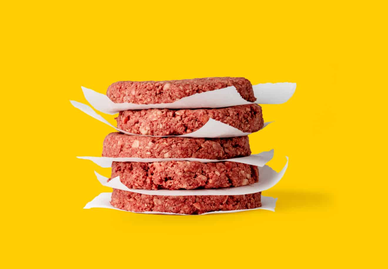 Impossible Burger stacked patties