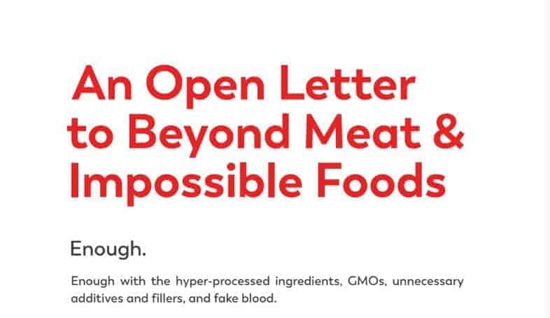 """Lightlife Launches Campaign Against Impossible Foods & Beyond Meat: """"Enough With the Hyper-Processed Ingredients and Fake Blood"""""""