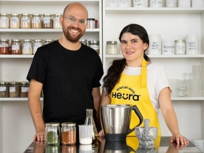 Marc Coloma, Heura CEO and Founder; and Lorena Salcedo, NPD Manager at Heura