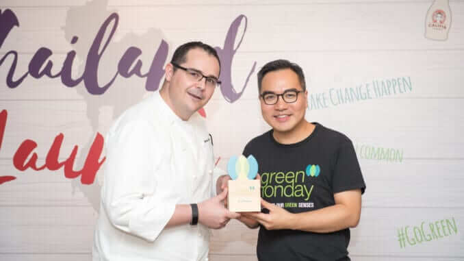 Markus Zuck, Executive Chef of Grand Hyatt Erawan & David Yeung, Founder and CEO of Green Monday