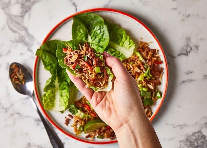 Meatless Mince Thai Larb