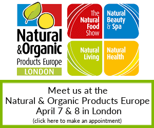 Meet us at the Natural & Organic Products Europe in London 2019