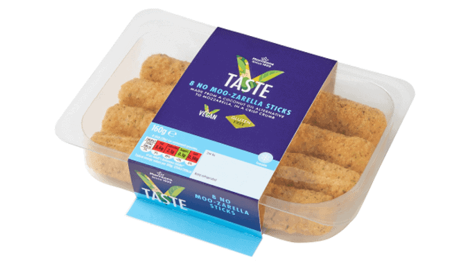 Morrisons V Taste vegan mozzarella sticks