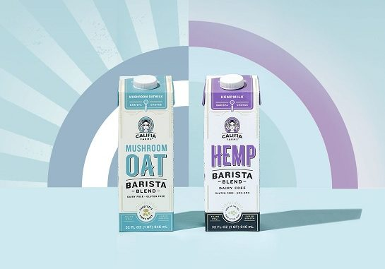 Mushroom Oat and Hemp Barista Blends Califia Farms
