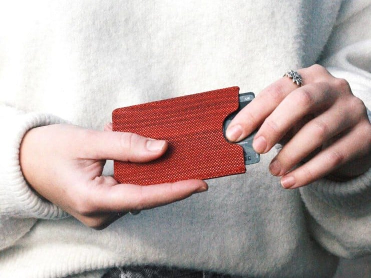 Oliver Co Travelcard Holder Red Wood