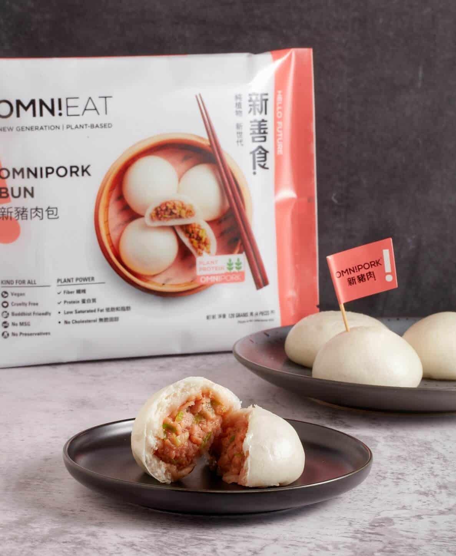 OmniPork Bun together with OmniPork dumpling - The new OmniEat dim sum series