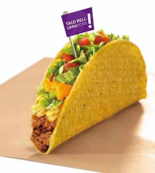 OmniPork Crunchy Taco with Yu Xiang sauce