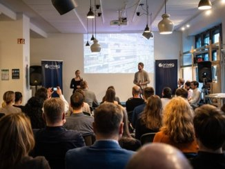ProVeg Incubator startup Demo Day, December 2019. Startup Von Georgia are pitching. Photo credit Cadenza Zhao.