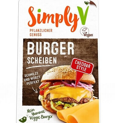 Simply V Launches the Perfect Vegan Burger Slice in Cheddar Flavour