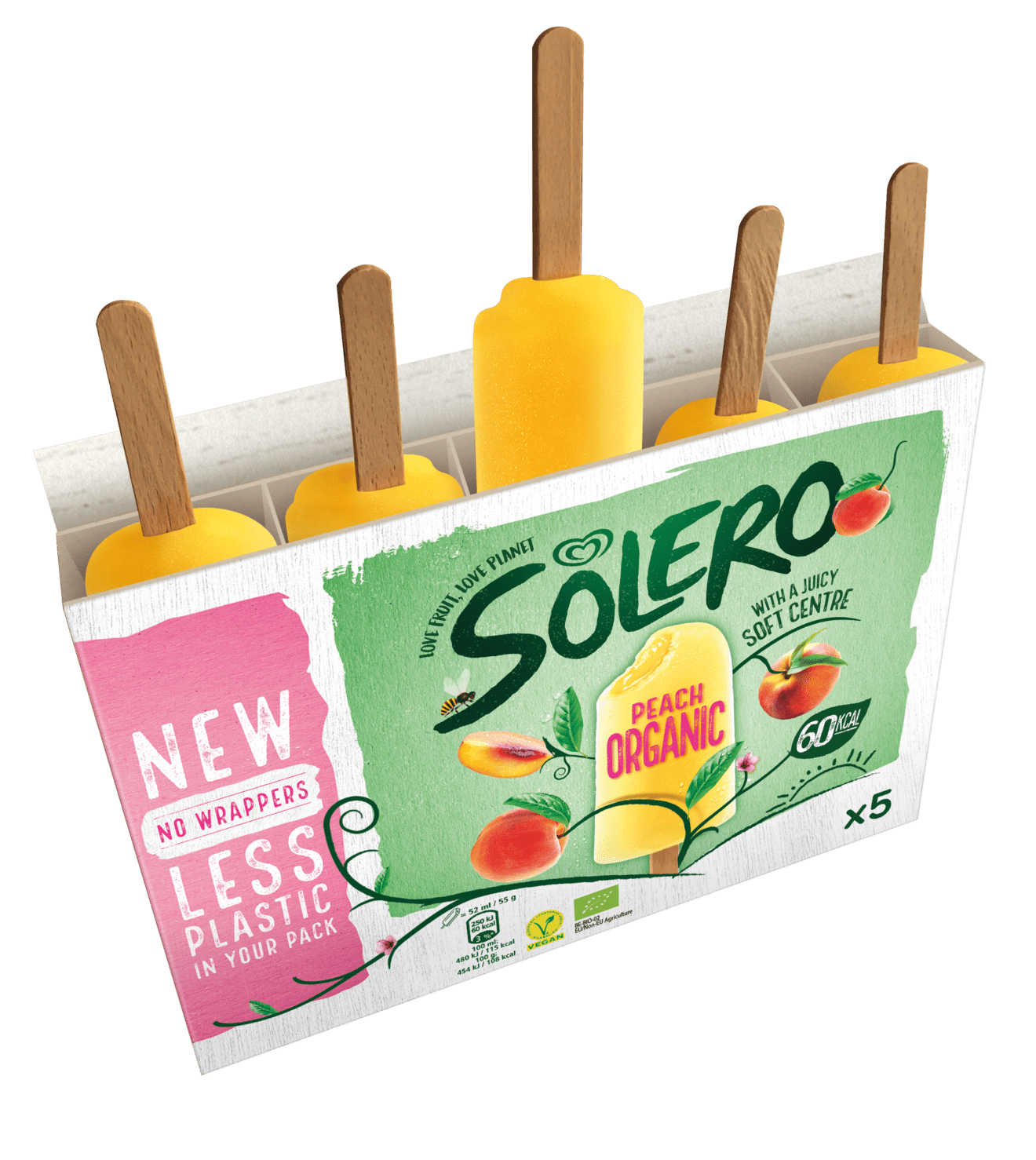 Vegan Solero Trials First Ever Multipack Without Plastic Wrappers