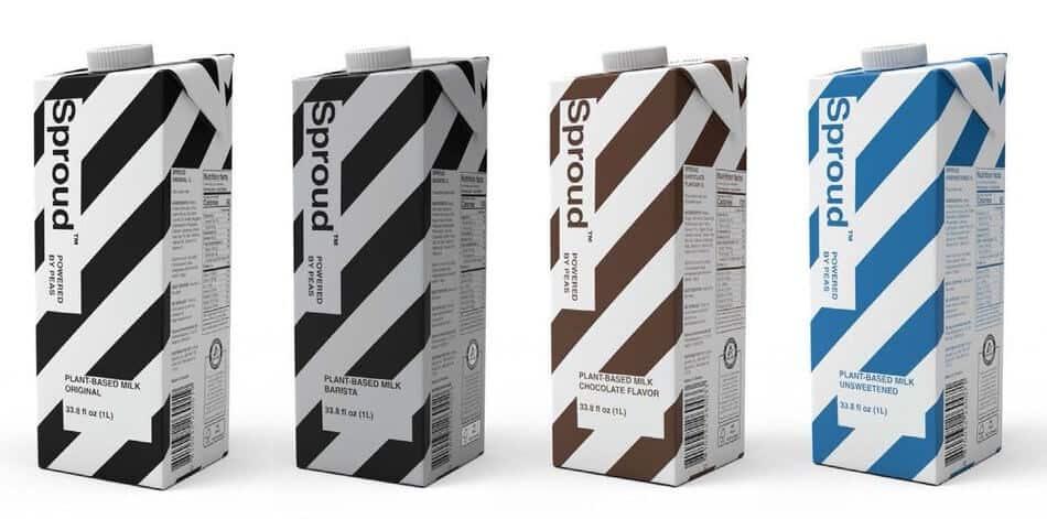 Sproud pea-protein milk