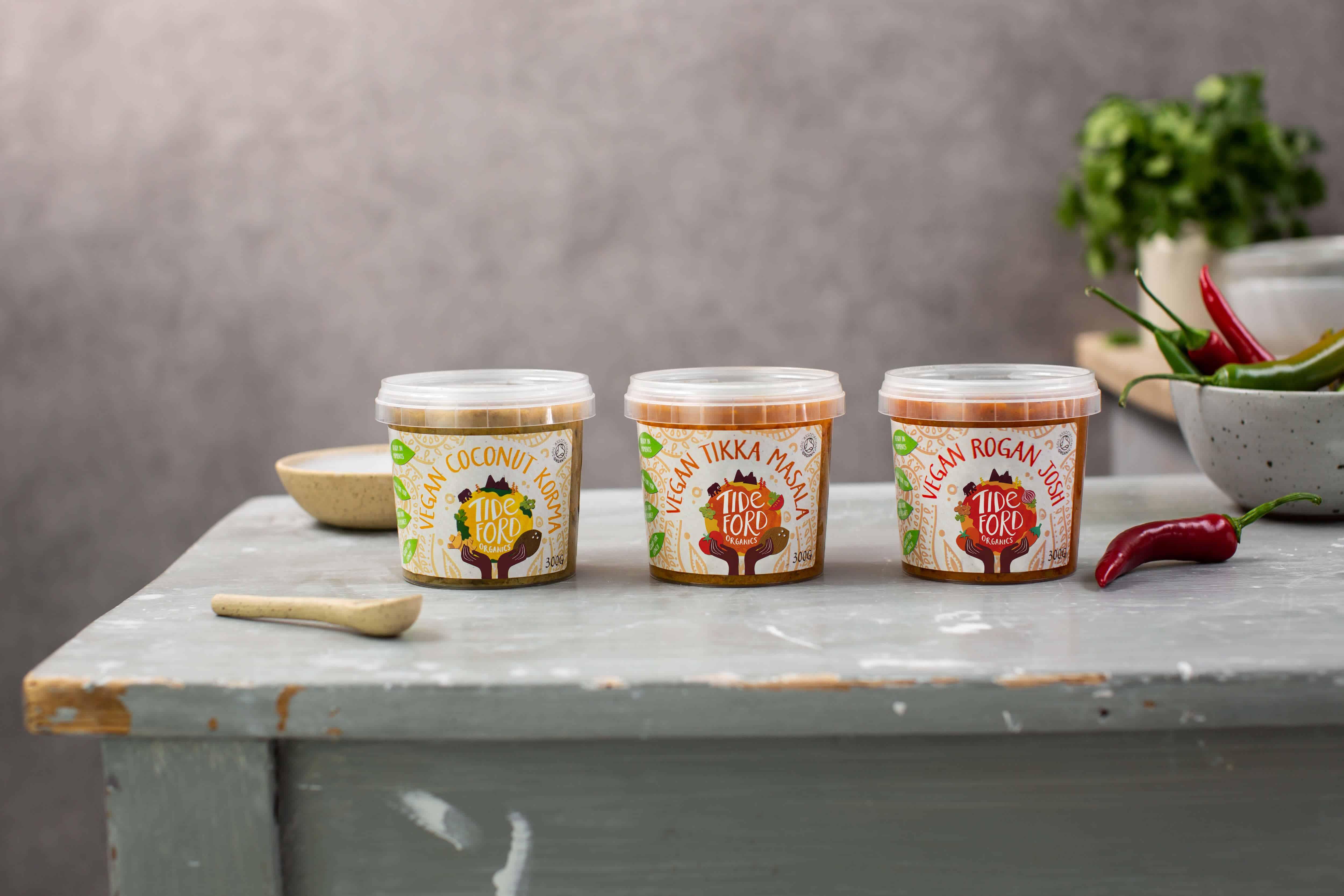 Tideford Organics curry pots