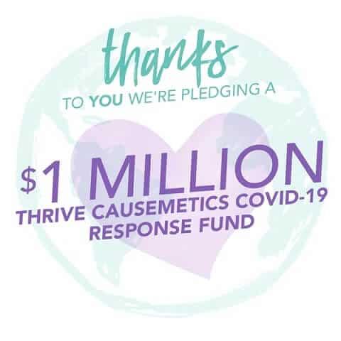 Thrive Causmetics Covid19
