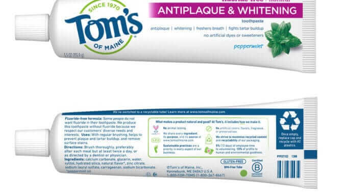 Toms of Maine Recyclable Toothpaste Tube