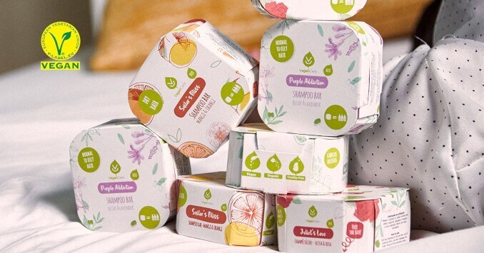 Vegancare solid shampoo by Vegan Care Cosmetics