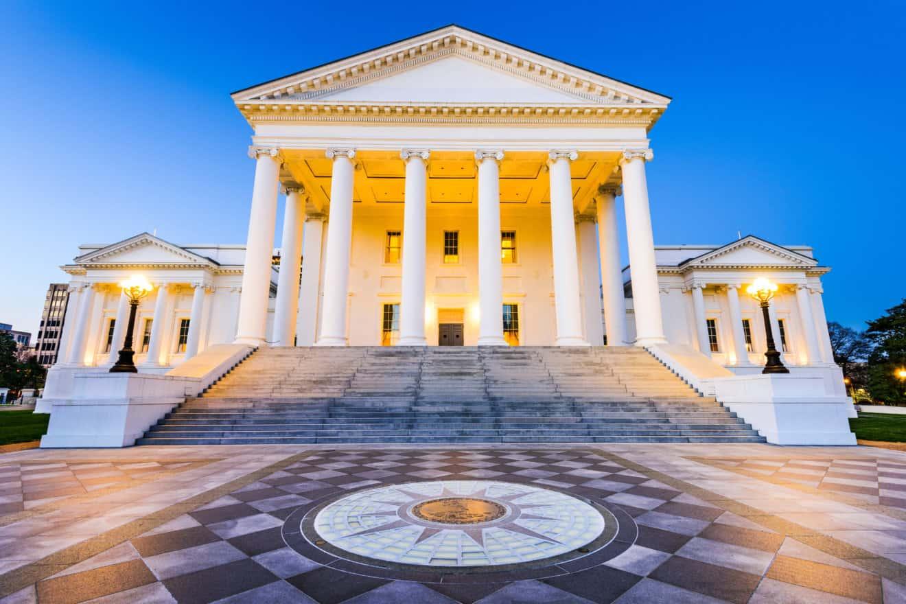 Virginia State Capitol in Richmond, Virginia, USA.