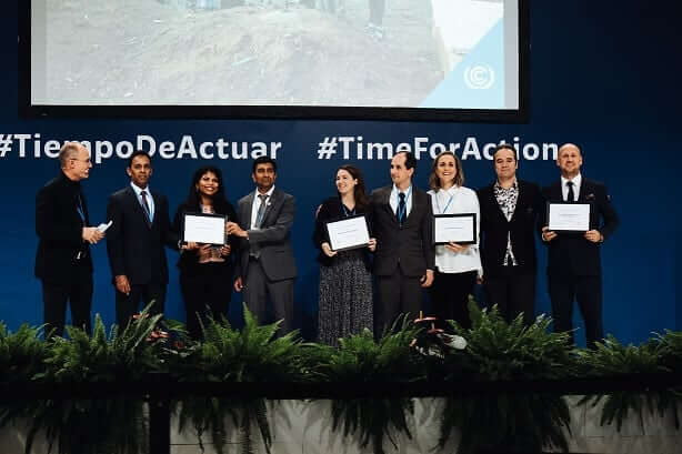 UN climate award winners Max burgers