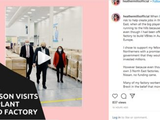 Boris jJohnson / VBites visit Heather Mills Instagram
