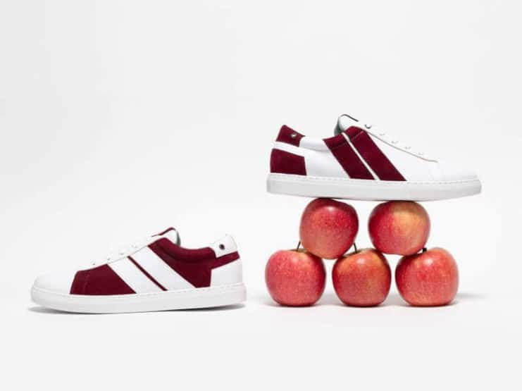 French sneaker brand Caval is launching a range of vegan sneakers made from apple peel leather.