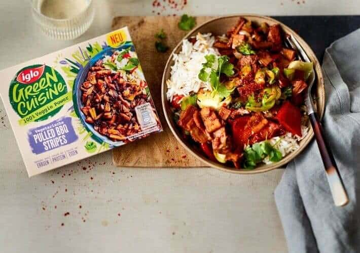 European brand iglo has received PETA Germany's Best Vegan Product award for its Pulled BBQ Stripes.