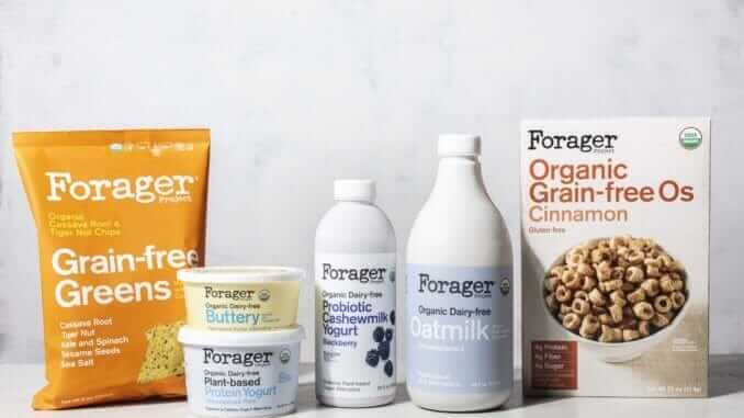 Forager Project non-dairy yogurt, oat milk, cereal