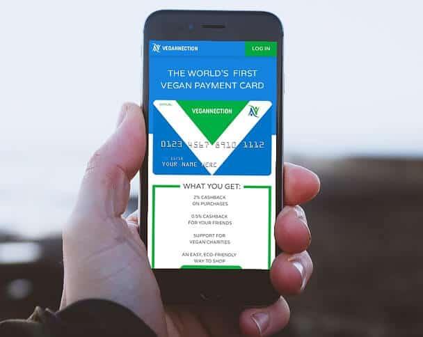 Vegannection payment card foto app
