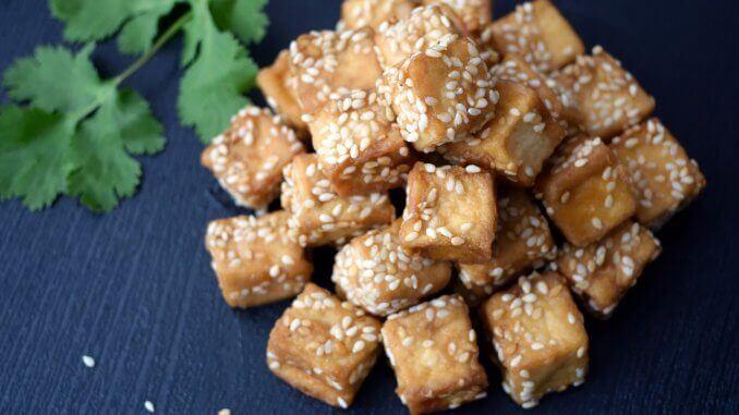 Tofu mit Sesam