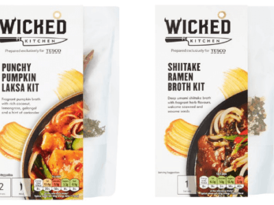 Tesco, the UK's largest supermarket, is adding 15 new vegan products to its two plant-based product lines. These will include vegan meal kits, steak, and nuggets.