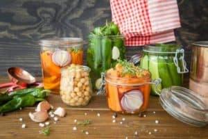 Lebensmittel fermentiert eingemacht gemüse