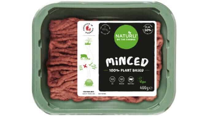 Eine Packung Naturli: vegane Hackfleisch-Alternative