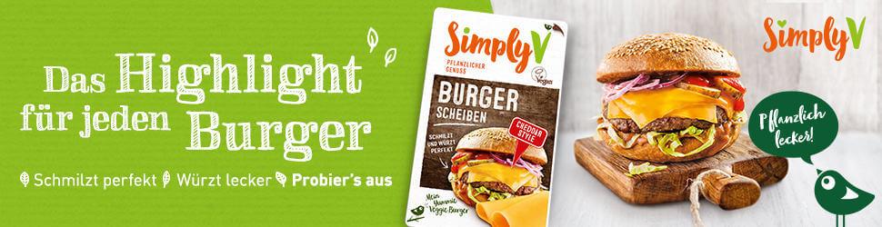 Simply V - Burger Scheiben - Das Highlight für jeden Burger - Billboard